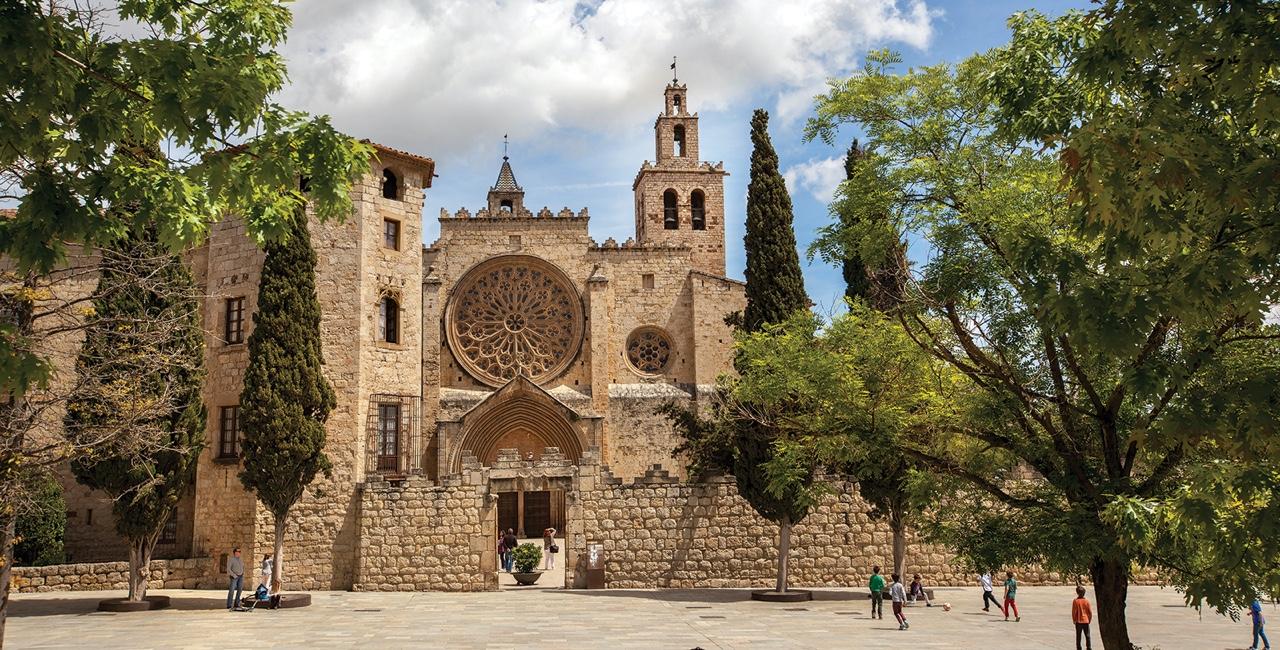 Monestir de Sanr¡t Cugat. Trisme catalunya